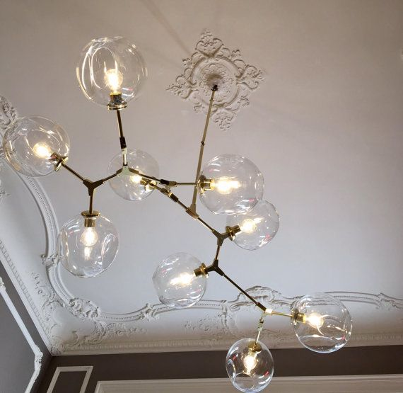 Modern Chandelier Branching Bubble Style 7 By Intermountainlights