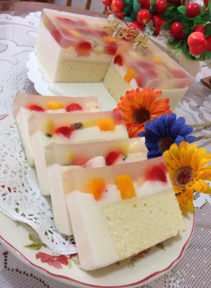 枫林温馨花园 Maple Grace Garden : ~ Fruity Pudding Cake ❤ 水果布丁蛋糕 ~