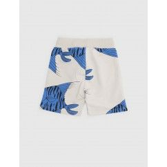 sweat broekje -korte broek -grijs blauwe vissen -Mini Rodini -Bon Bon Bleu