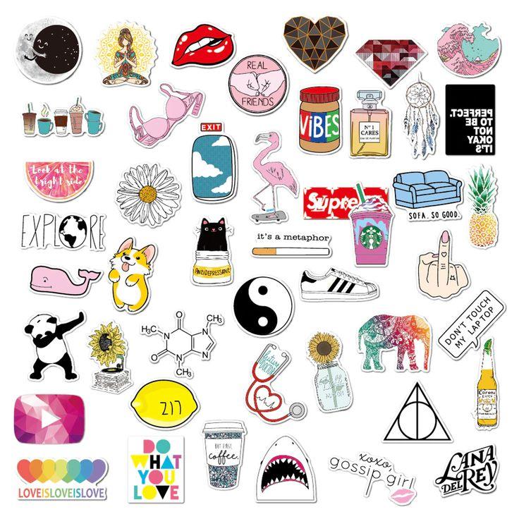 VSCO Girls Aesthetic Light Stickers for Bottle Phone Case ...
