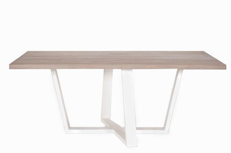 Diamond table #wood #woodentable #grey #white #dinningroom #table #dinningtable #designtable #oakwood #solidwood