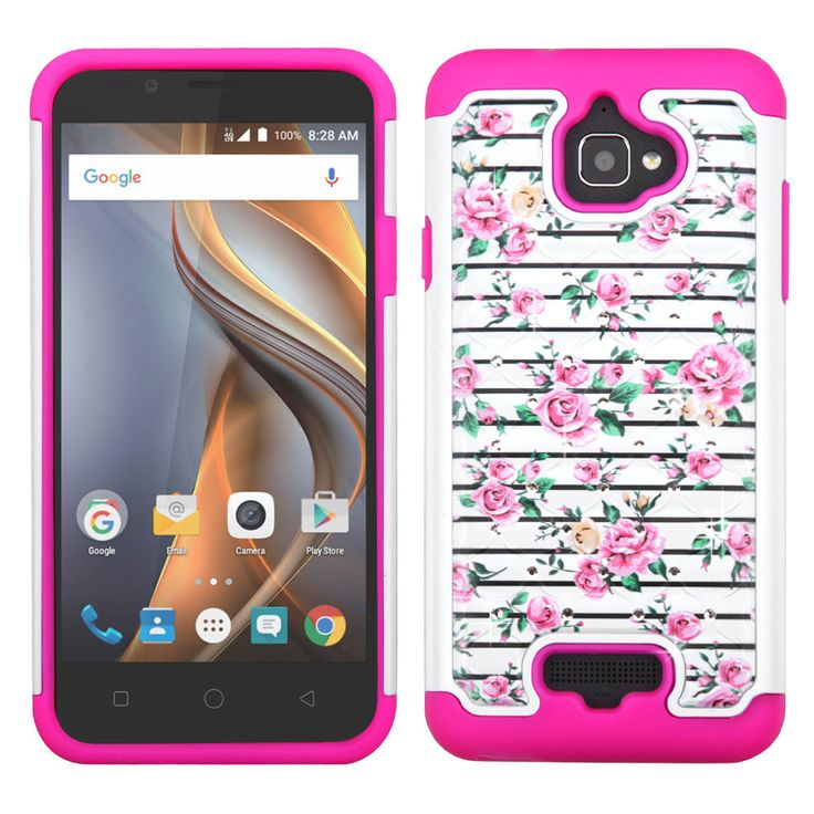 MYBAT Lattice Full-Star Coolpad Catalyst Case - Pink Fresh Roses