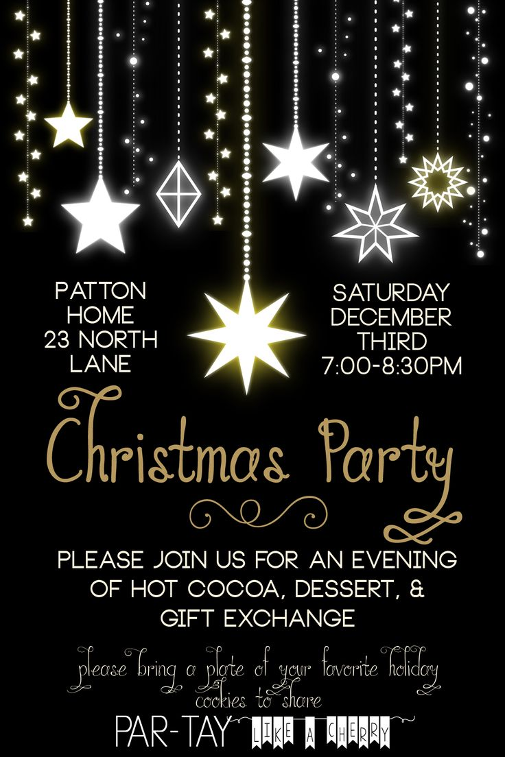 Free Christmas Party Invitation Christmas party
