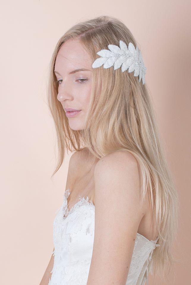 Nora Sarman Aigle headpiece