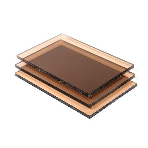 Plexiglas in smoke bruin kan gebruikt worden voor tal van mooie interieurtoepassingen.