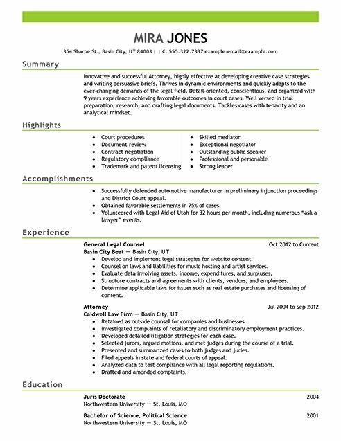 Lawyer resume example Resume Examples Resume format, Resume