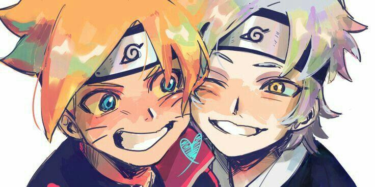 Boruto, Mitsuki, heart, yaoi, blushing; Naruto