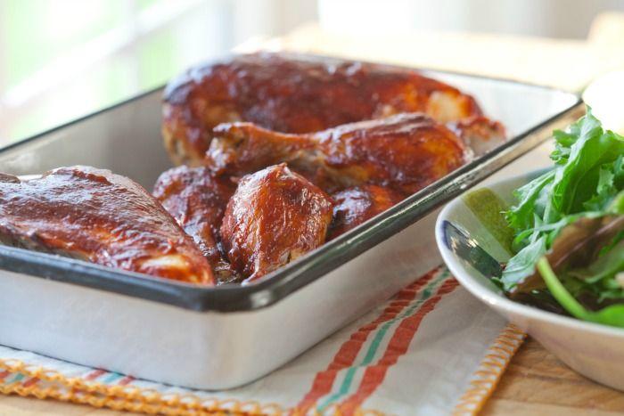 Go to http://fingerlickingrestaurantrecipes.weebly.com/ and get 1000 tasty and delicious recipes  #chicken recipes Oven BBQ Chicken Recipe | DeliciouslyOrganic.net #paleo #grainfree