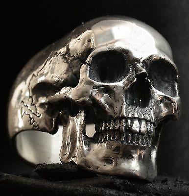 Full jaw skull ring sterling silver mens ring skull biker masonic jewelry 925  | Jewelry & Watches, Fashion Jewelry, Rings | eBay!