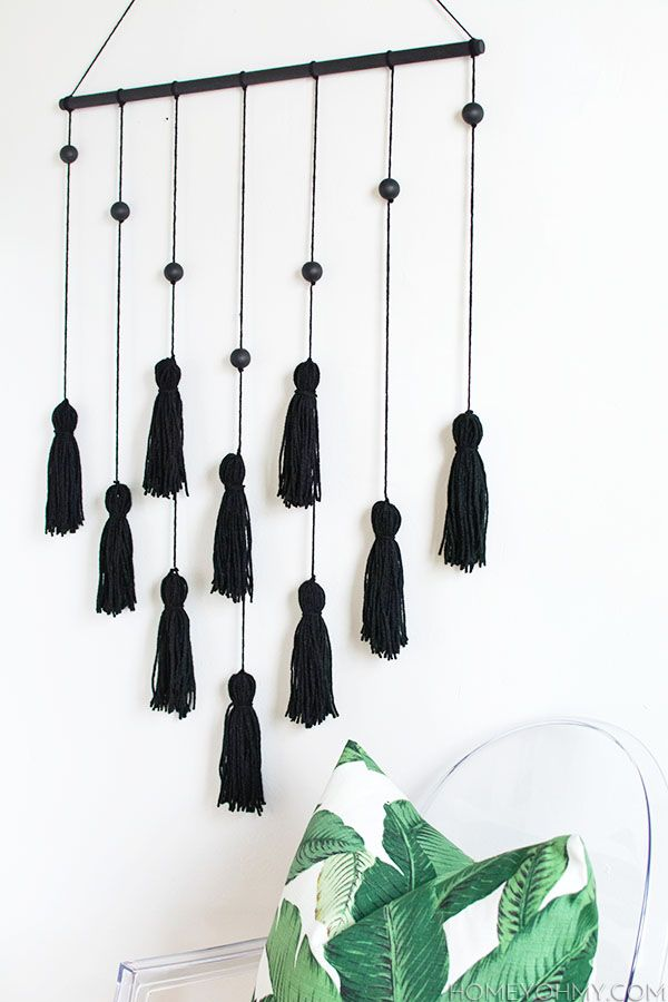 diy modern tassel wall hanging toys diy projects and home. Black Bedroom Furniture Sets. Home Design Ideas