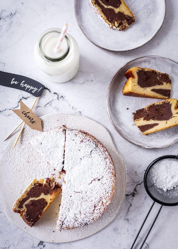 Marmor Kasekuchen Rezept Schokolade Schoko Cheesecake Backen Ohne