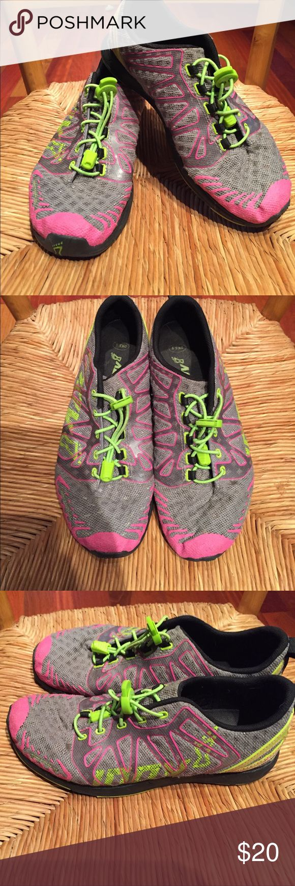 Inov8 road xtreme 168 Gently used running shoe. Worn mostly on the treadmill and to and from the gym. UK size 5.5. I typically wear a women's size and and these fit me really well. inov8 Shoes Athletic Shoes
