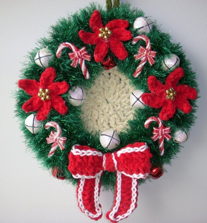 free crochet pattern christmas wreath dancox for. Black Bedroom Furniture Sets. Home Design Ideas