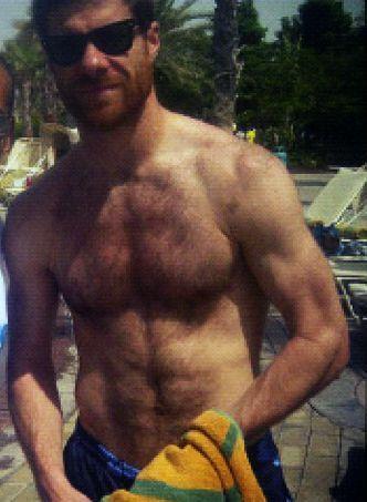 hairy chest via xabi alonso footballreal madrid