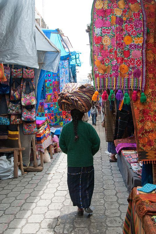 Chichicastenango market, Guatemala - great for fabric shopping