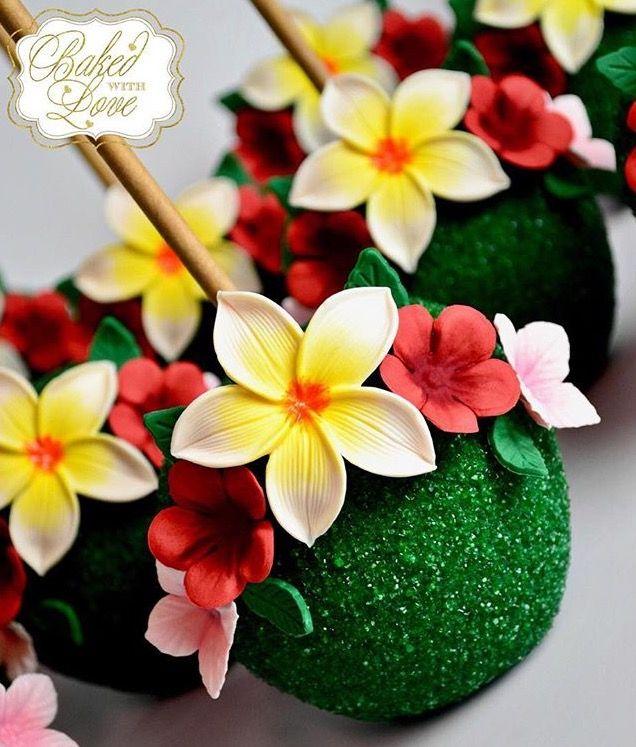Moana themed cake pops