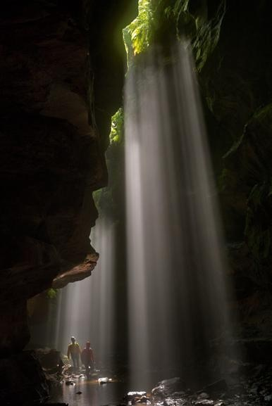 slot canyons, blue mountains, australia