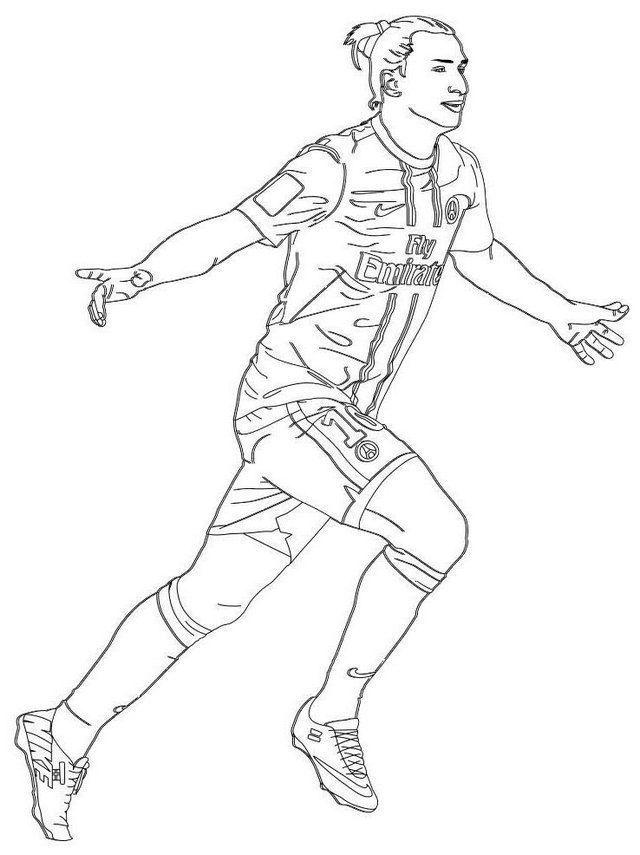 Professional Footballer Zlatan Ibrahimovic Coloring Page Cizimler Tablolar Futbol