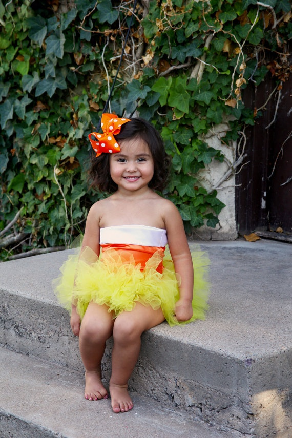 Couture Candy Corn Costume Halloween by EnchantedFairyLand on Etsy, $55.00