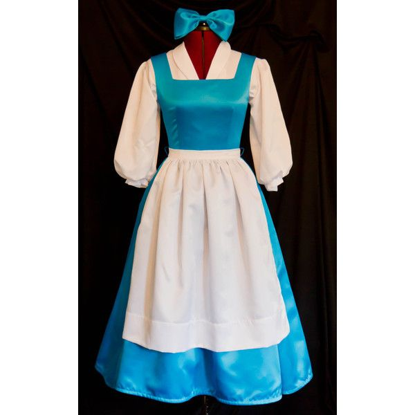 DELUXE Adult Blue BELLE Blue Provincial Costume CUSTOM Size ($300) ❤ liked on Polyvore featuring costumes, deluxe halloween costumes, adult belle halloween costume, blue costumes, deluxe adult halloween costumes and adult costume