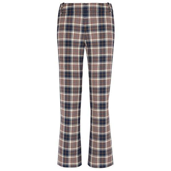 Tory Burch Garrett Straight-Leg Pant (€145) ❤ liked on Polyvore featuring pants, bottoms, plaid, milano tartan plaid, flat front pants, tartan plaid pants, tailored trousers, tailored pants and plaid trousers