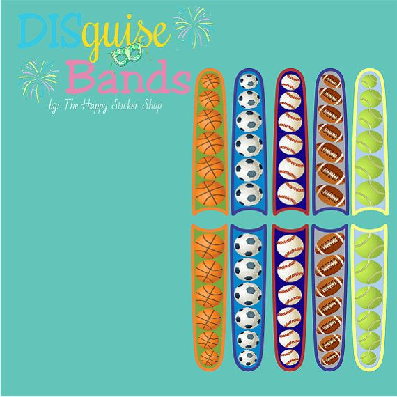 Sports Collection Magic Band Sticker Decal by TheHappyStickerShop