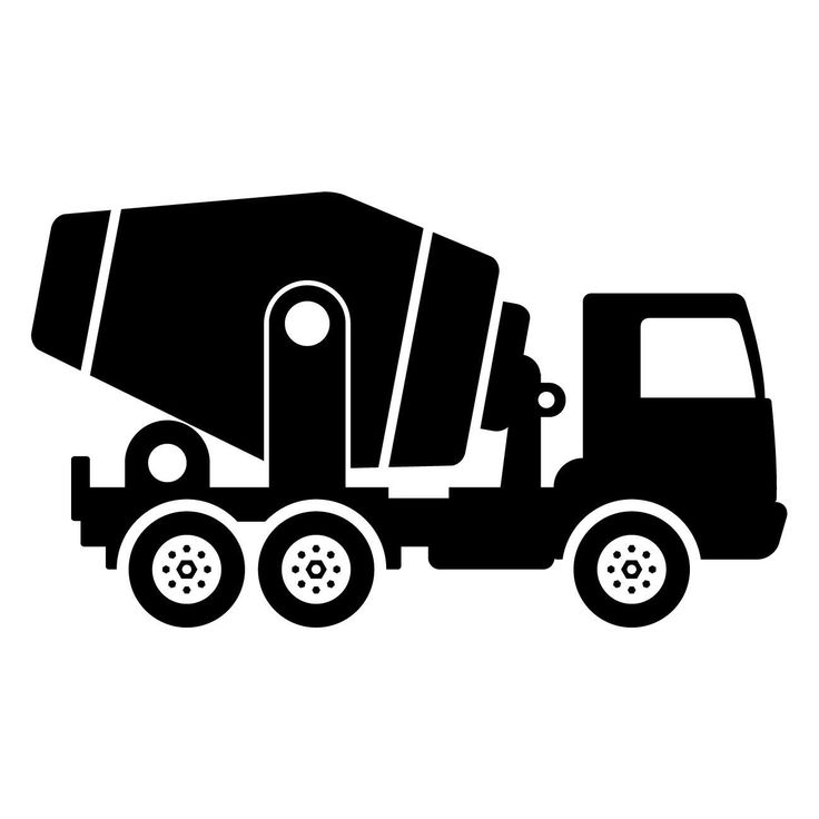 Kids Cement Mixer Truck Construction Vehicle Wall Art Sticker (AS10101) | eBay