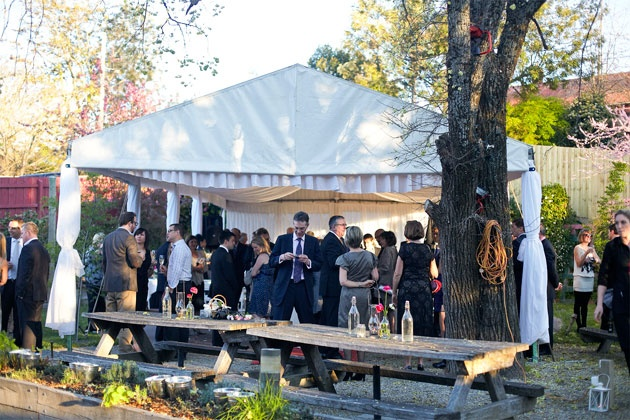 6 x 12m Structure Marquee over an outdoor stage area - Healesville Hotel