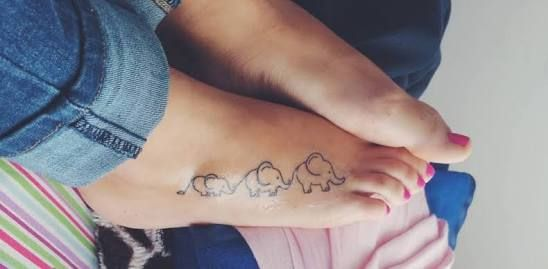 elephant family tattoo - Google Search                                                                                                                                                      More