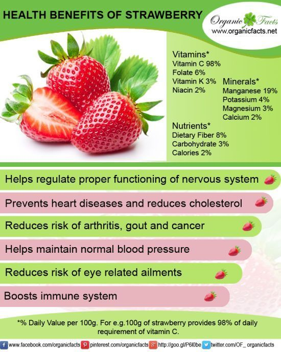 The health benefits of strawberry include eye care, proper brain function, and relief from high blood pressure, arthritis, gout and heart diseases.
