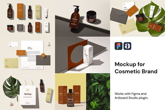 Cosmetic Brand Mockup For Figma By Mockup Zone On Creativemarket Scene Generator Cosmetics Brands Photoshop Design