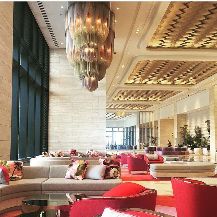 Our custom #Mandala #chandeliers for the Crown Towers in Perth.  #hoteldesign #hospitalitydesign #lightingdesign #customlighting #willowlamp  Image via @chrisssieeb on Instagram.