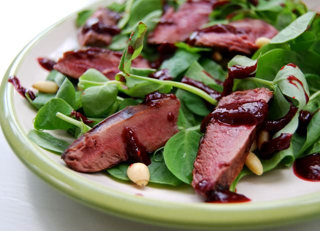 Rachel Phipps shows how to prepare pigeon breasts in a tasty and colourful salad with this delicious wood pigeon recipe.