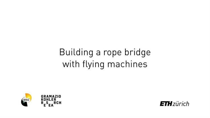 A construção de uma ponte de corda feita por dois Drones #Tecnologia #Futuro #Sensacioanl #Drones #Pontes #Construção