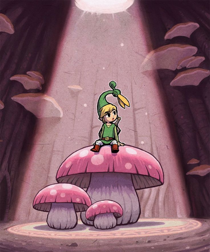 Link and Ezlo - The Legend of Zelda: The Minish Cap; Official artwork from the game