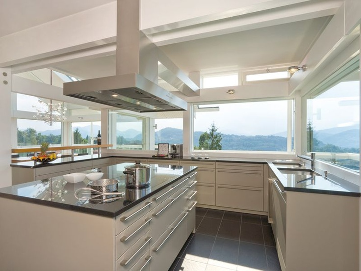 Mod kitchen with view