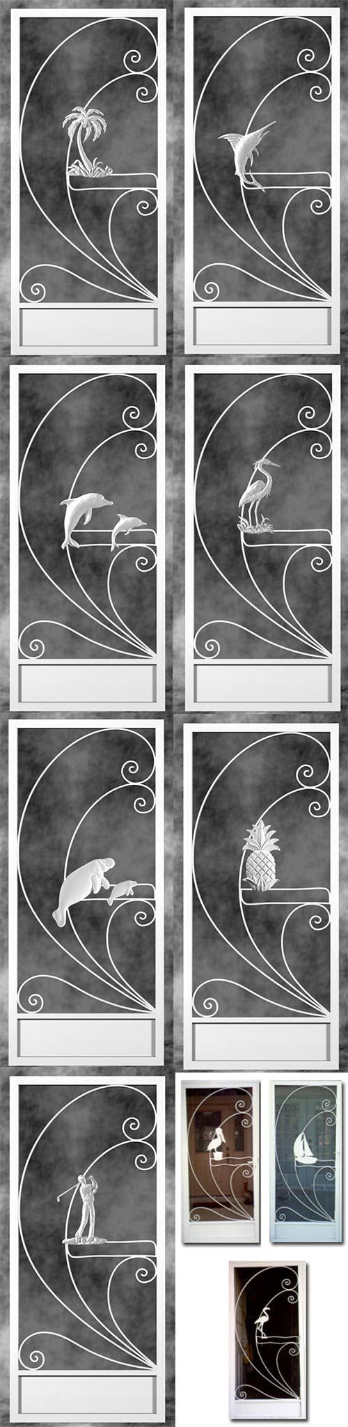 2 manufacturers - 18 styles - Screen door inserts with herons, flamingos and more - Retro Renovation