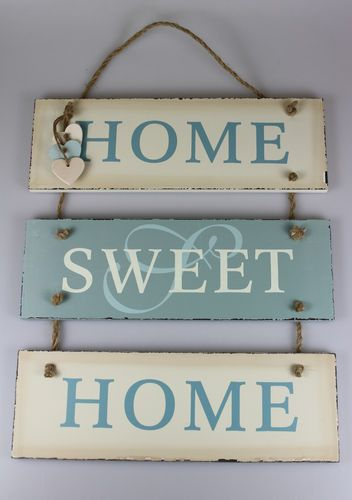 SHABBY CHIC Large Triple Sign/Plaque Hanging