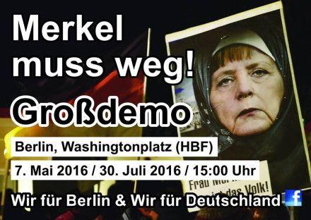 Germania. LIVE VIDEO - Germanii organizează la Berlin o mare manifestație împotriva lui Merkel. Merkel a anunțat că va continua să aducă imigranți în ciuda atentatelor şi a protestelor - germany - Fluierul.ro
