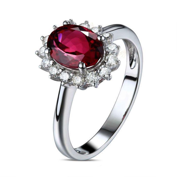Romantický turmalínový prsten s diamanty Truong