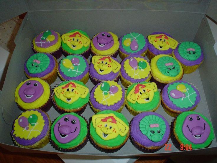 Barney Cupcakes