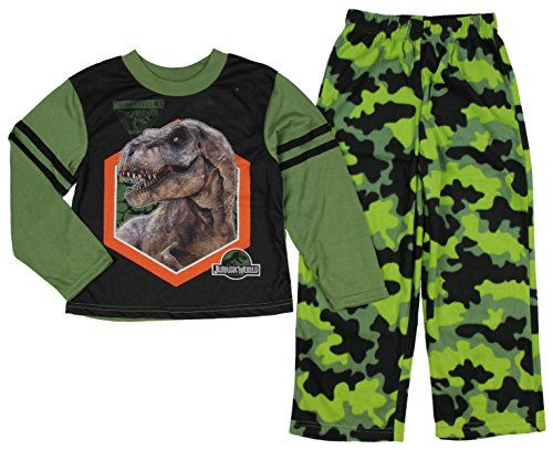 Jurassic World Boys Tyrannosaurus Flame Resistant Pajamas X-Small 4/5 @ niftywarehouse.com #NiftyWarehouse #JurassicPark #Jurassic #Dinosaurs #Film #Dinosaur #Movies
