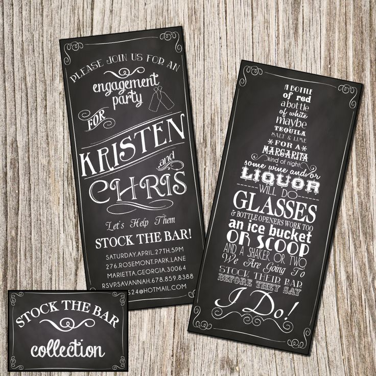 9 best Stock the Bar shower Invitations images on Pinterest Party