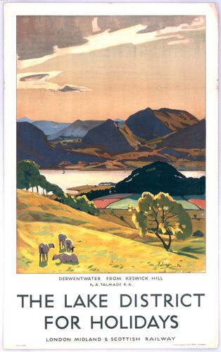 Lake District - Derwentwater from Keswick Hill by National Railway Museum - art print from King & McGaw