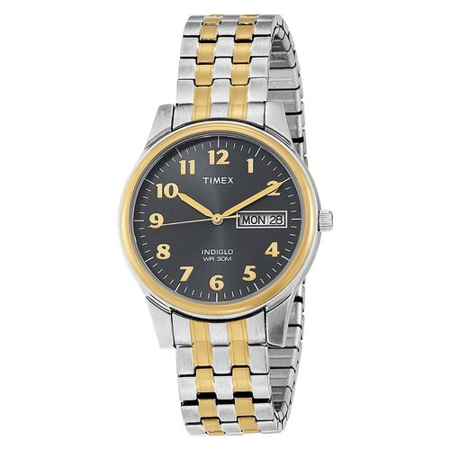 timex men s two tone expansion band watch t26481 watches band timex men s two tone expansion band watch t26481 watches band and two tones