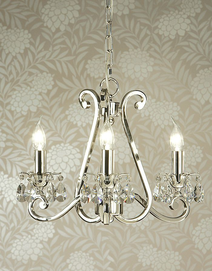 Luxuria 3 light chandelier -no shades | Temple & Webster