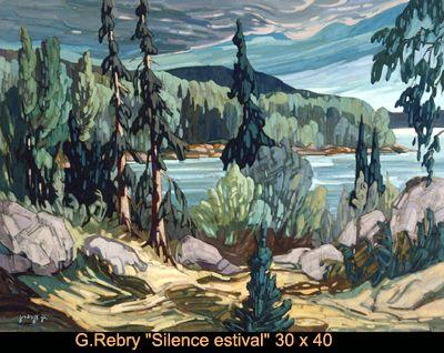Original painting oil on canvas by Gaston Rebry #gastonrebry #art #artist #canadianartist #quebecartist #nature #forest #light #originalpainting #oiloncanvas #balcondart #multiartltee