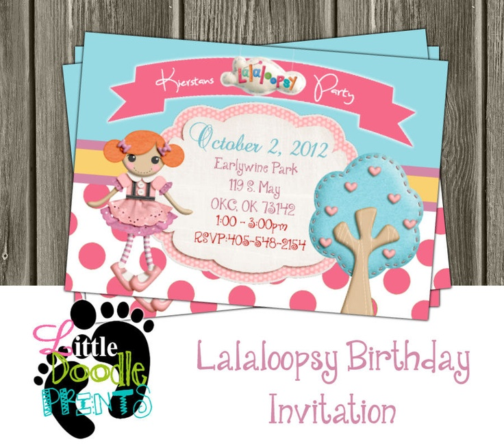 83 best printable images – Lalaloopsy Birthday Invitation