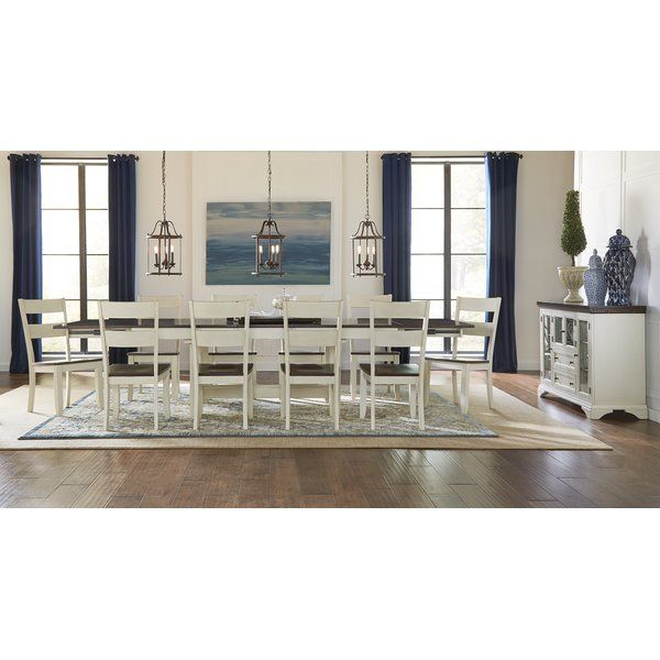 Aguero 11 Piece Extendable Solid Wood Dining Set Solid Wood Dining Set Solid Wood Dining Table Wood Dining Table