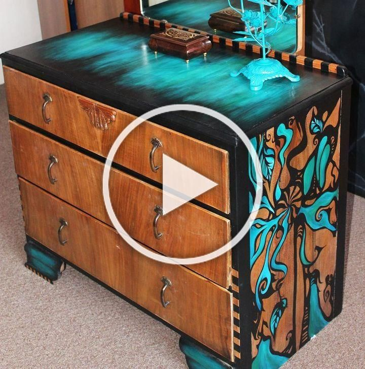 I Discovered This Old Set Of Vintage Drawers In Pretty Poor Condition In A Charity Hand Painted Furniture Diy Furniture Table Diy Furniture Plans Wood Projects